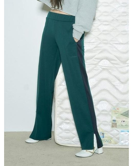 BABY CENTAUR - Baby Color Line Track Pants Dark Green - Lyst