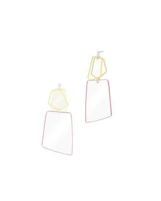 AOULIN - Pink Clear Geo Drop Earring - Lyst