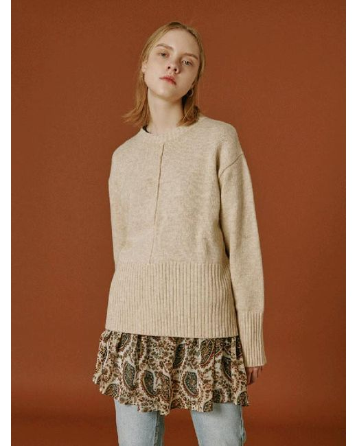 Lyst - OUI MAIS NON Kate Cashmere Knitwear in Natural 7892a8c90786