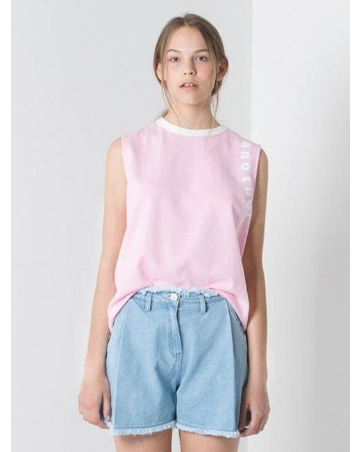Lyst Another A Color Combination Sleeveless Top Pink