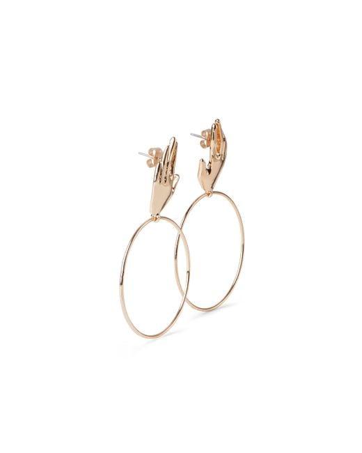 Weekday - Metallic Hand Hoop Earrings - Lyst