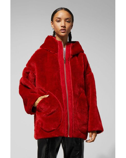 Weekday - Red Reverse Jacket - Lyst