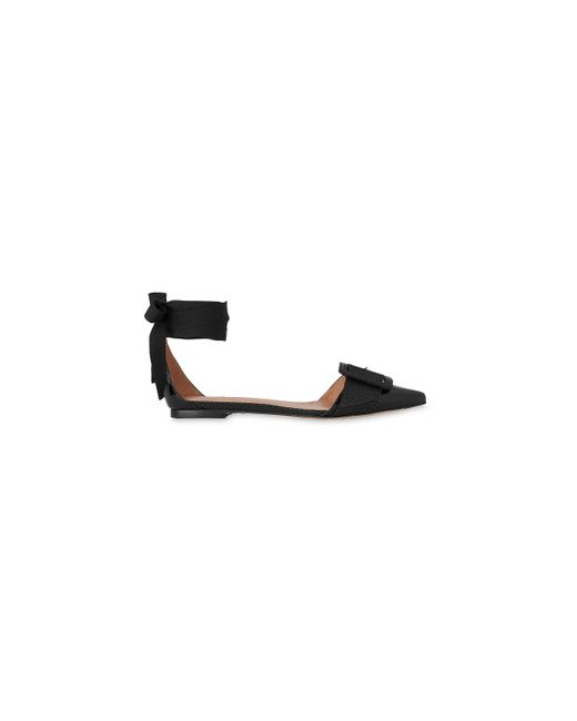 Whistles | Black Avalon Ankle Tie Flat Point | Lyst