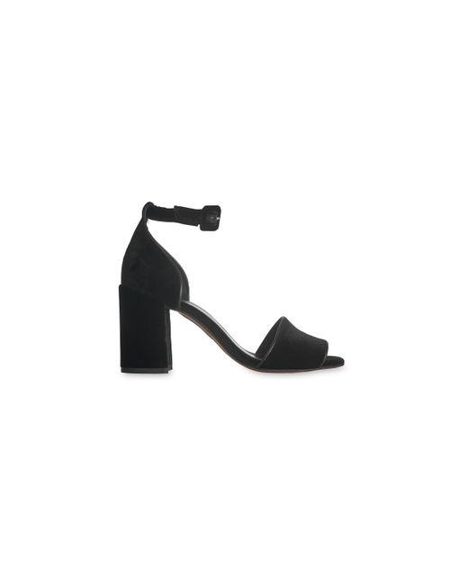Whistles | Black Hedda Velvet Block Heel Sandal | Lyst