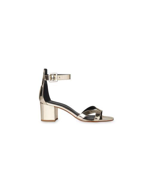 Whistles | Metallic Marquis Block Heel Sandal | Lyst