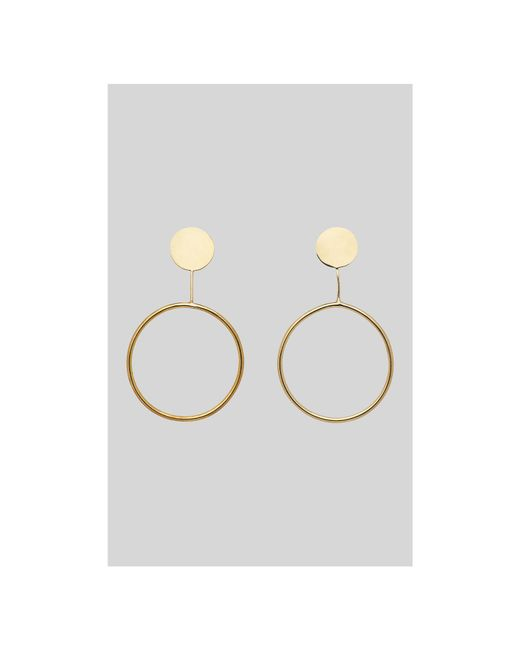 Whistles - Metallic Made Dot Drop Earring - Lyst