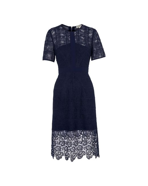Whistles - Blue Ailsa Placement Lace Dress - Lyst