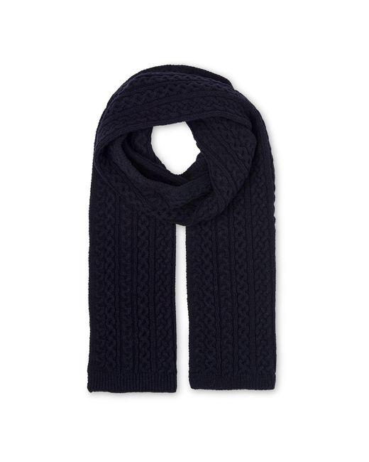 Whistles - Blue Cable Knit Scarf - Lyst