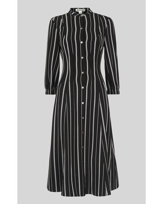discount price official photos matching in colour Women's Black Leesa Stripe Shirt Dress