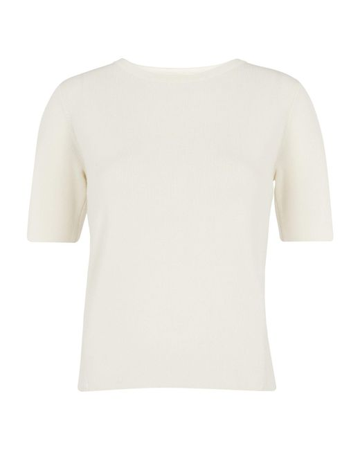 Whistles - White Cross Back Knit T-shirt - Lyst