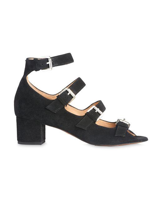 Whistles - Black Verde Multi Buckle Sandal - Lyst