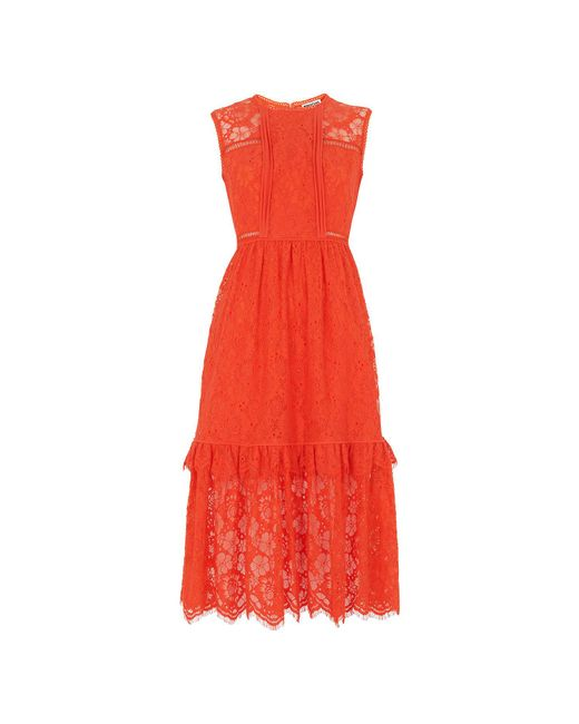Whistles - Red Rosie Lace Panel Dress - Lyst