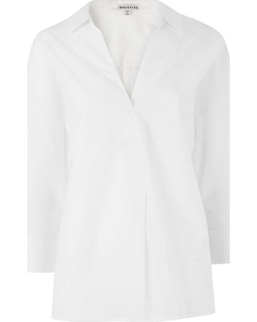 Whistles - White Lola Shirt - Lyst