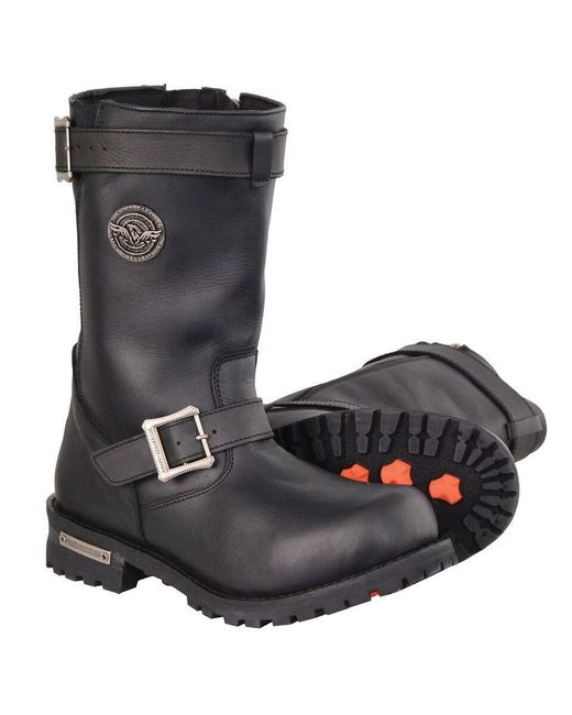 Wilsons Leather - Black Milwaukee Leather 11 Inch Classic Engineer Leather Boot for Men - Lyst
