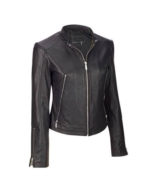 Wilsons Leather - Black Famous Maker Classic Genuine Leather Scuba Jacket - Lyst