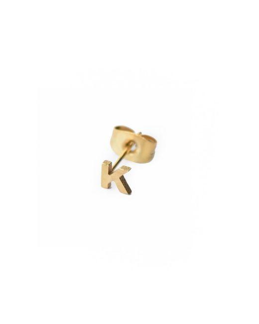 Whistle & Bango | Metallic Little Letter K Earring 18ct Plating | Lyst
