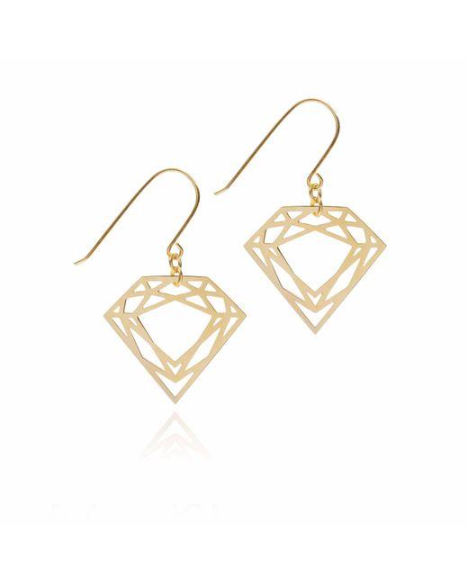 Myia Bonner | Metallic Gold Classic Diamond Earrings | Lyst