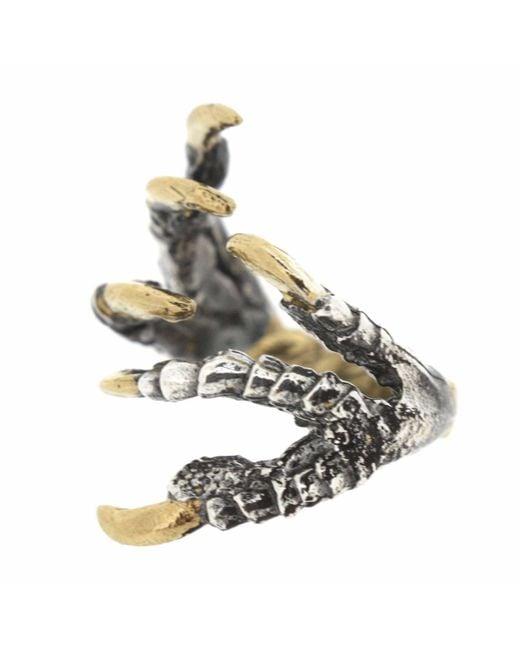 Tessa Metcalfe | Black Oxidised Pigeon Grasp Ring | Lyst
