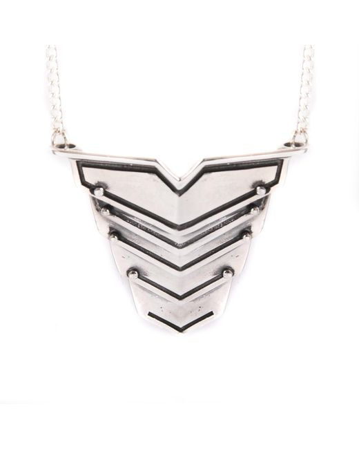 Lee Renee - Metallic Romeo Necklace Silver for Men - Lyst