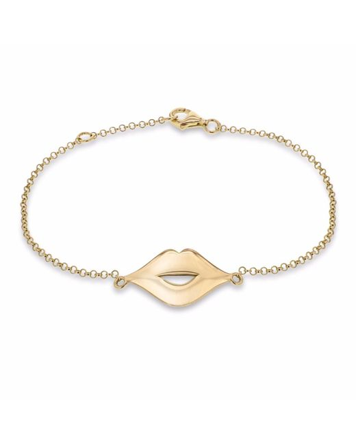 True Rocks | Metallic Lips Bracelet Yellow Gold | Lyst