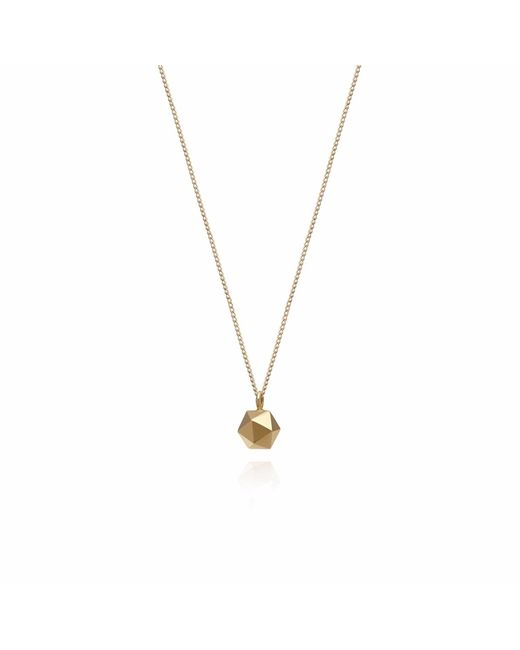 Myia Bonner | Metallic Gold Mini Icosahedron Necklace | Lyst