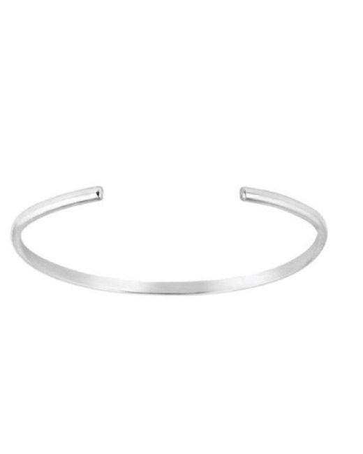 Charlotte Bird Jewellery   Metallic Silver Skinny Cuff   Lyst