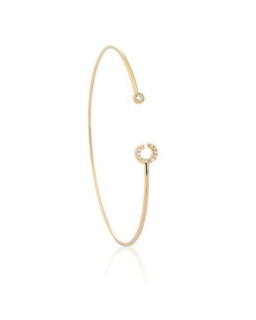 Astrid & Miyu | Metallic Gold Initial C Bangle | Lyst