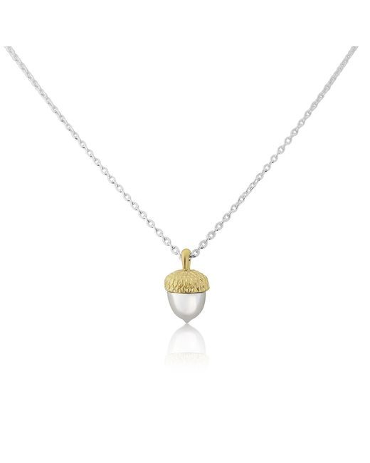 Auree Jewellery - Metallic Sherwood Silver & Gold Acorn Necklace - Lyst