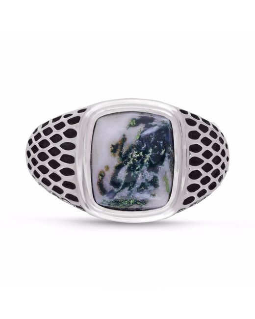 LMJ - Multicolor Tree Agate Stone Ring for Men - Lyst