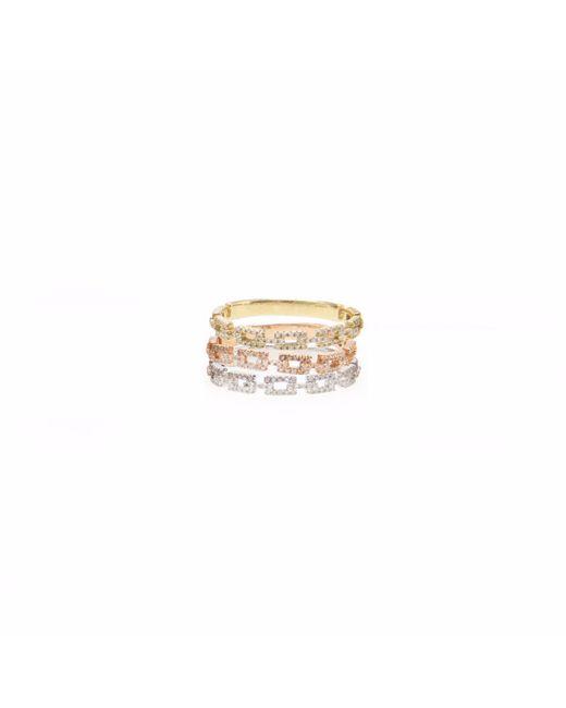 Ri Noor - Metallic Stacked Diamond Chain Ring - Lyst