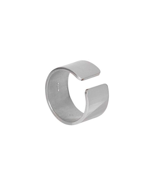 Edge Only - Metallic Gap Ring Mens Silver for Men - Lyst