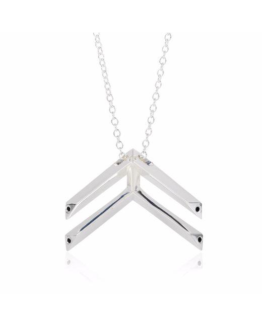 Sonal Bhaskaran - Metallic Pala Chevron Necklace Silver - Lyst