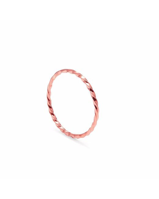 Myia Bonner | Metallic Rose Gold Skinny Twist Stacking Ring | Lyst