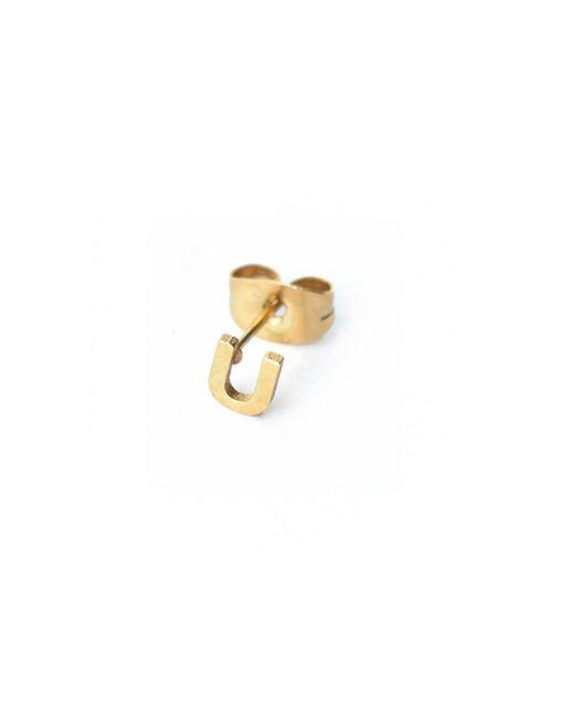 Whistle & Bango | Metallic Little Letter U Earring 18ct Plating | Lyst