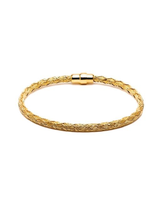 Durrah Jewelry - Metallic Gold Woven Bracelet For Her - Lyst