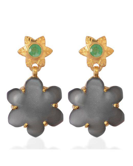 Emma Chapman Jewels - Multicolor Jamila Black Moonstone Emerald Earrings - Lyst