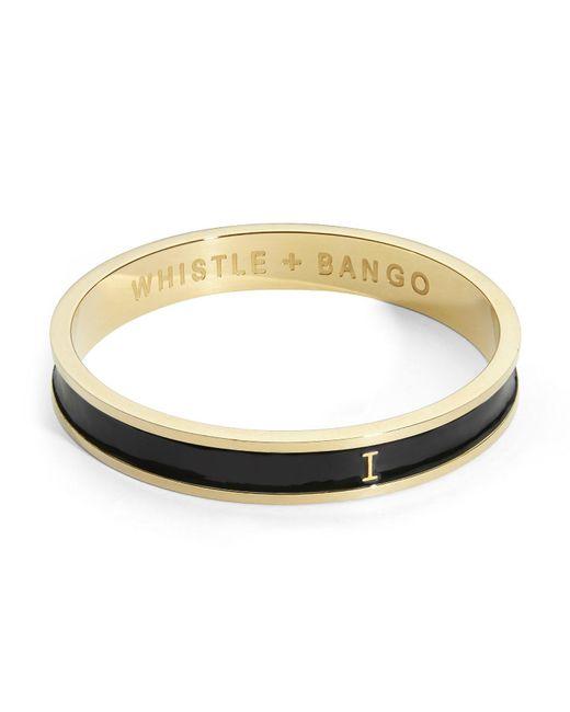 Whistle & Bango - Multicolor 'i' Alphabet 24ct Bangle Black - Lyst