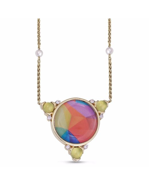 LMJ - Metallic Sprinkle Of Color Necklace - Lyst