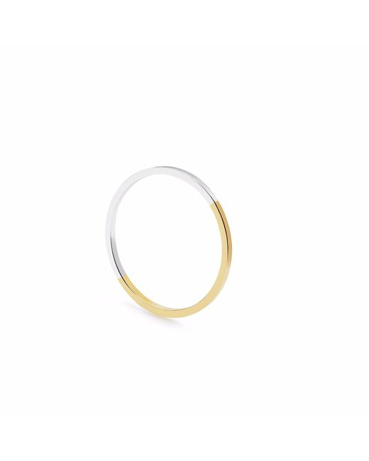 Myia Bonner - Metallic Two Tone Ultra Skinny Square Stacking Ring - Lyst