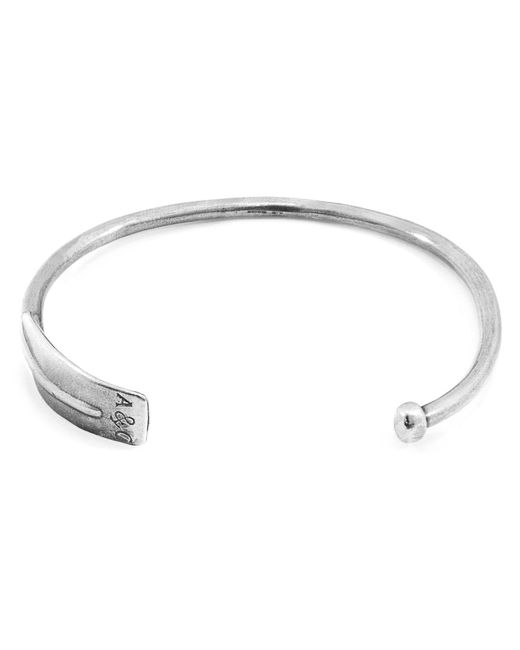 Anchor & Crew - Metallic Paddle Navigation Silver Bangle for Men - Lyst