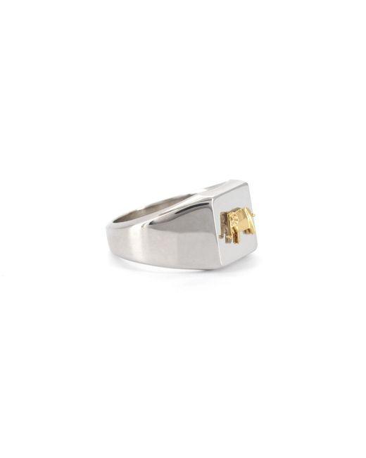 Origami Jewellery - Metallic Signet Ring Elephant - Lyst