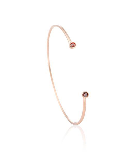 Astrid & Miyu - Pink Rose Gold Cancer Bangle - Lyst