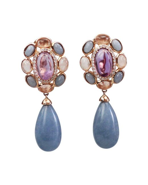 Bellus Domina - Blue Amare Angelite Earrings - Lyst