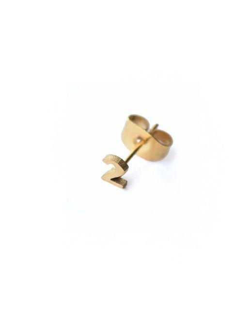 Whistle & Bango - Metallic Little Number 2 Earring 18ct Plating - Lyst