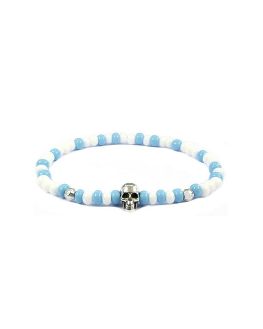 CLARISTE JEWELRY | Men's Skull Bracelet Blue & White for Men | Lyst