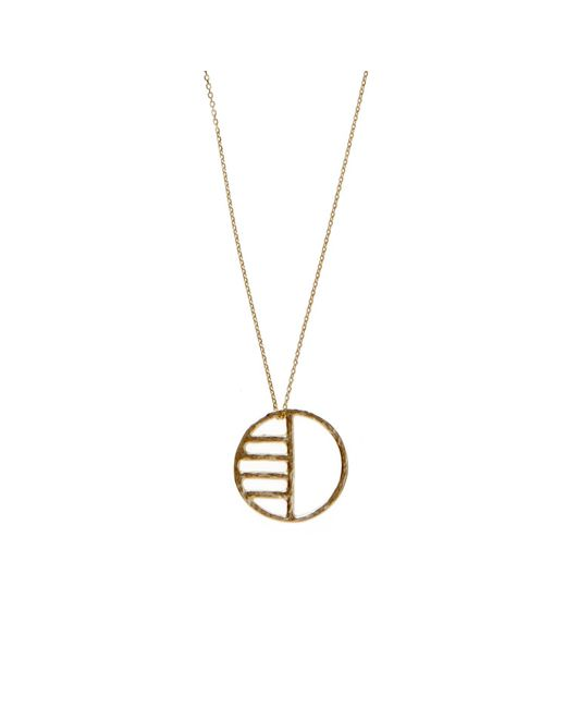 KIND Jewellery | Metallic Gold Eclipse Pendant Necklace | Lyst