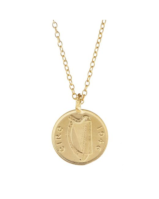 Chupi | Metallic Worth Your Weight In Gold Farthing Coin Necklace | Lyst