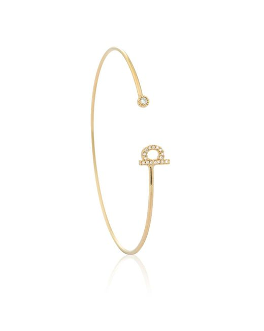 Astrid & Miyu - Metallic Gold Initial P Bangle - Lyst