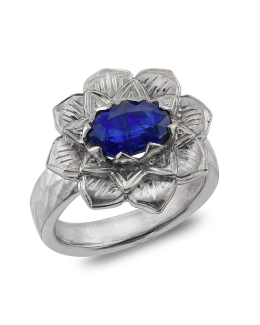 Emma Chapman Jewels | Blue Lotus Kyanite Ring | Lyst