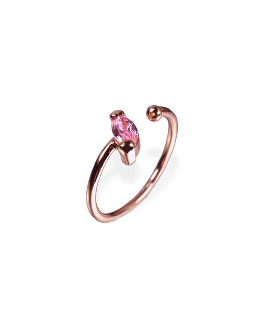 Ona Chan Jewelry | Little Jewels Open Ring Marquis Pink & Rose Gold | Lyst